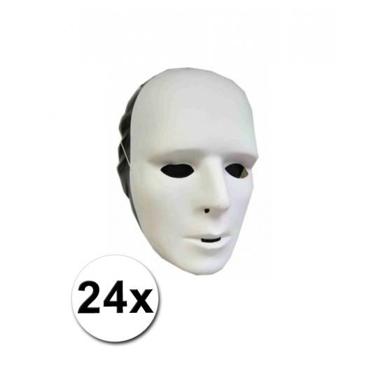 24x Wit masker om zelf te beschilderen