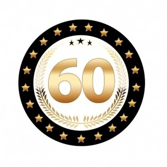 60 jaar jubileum bierviltjes 25x