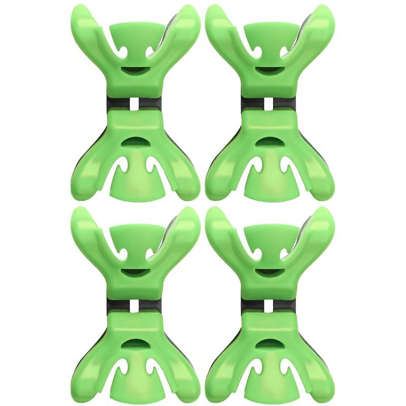8x Slingers/decoratie ophangen slingerklemmen groen