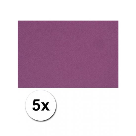 A4 hobby karton paars 5 stuks