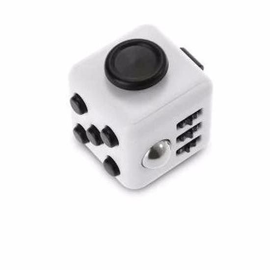 Anti stress kubus wit/zwart 4 cm