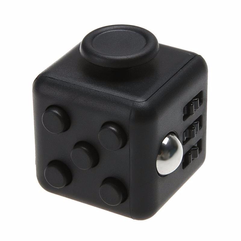 Anti stress kubus zwart 4 cm