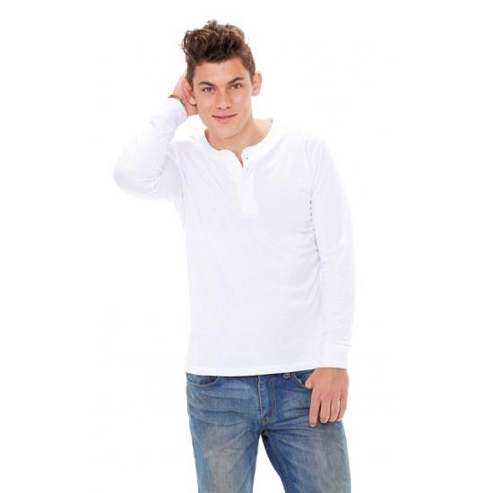 Bella wit long sleeve shirt voor heren