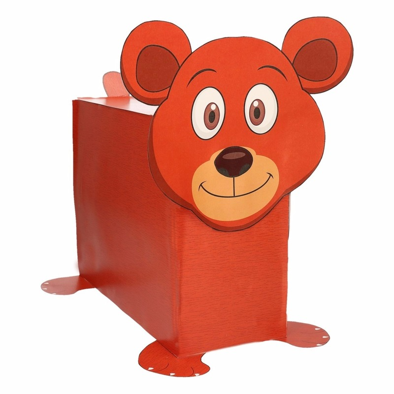 Bruine beer surpise bouwen voor kinderen