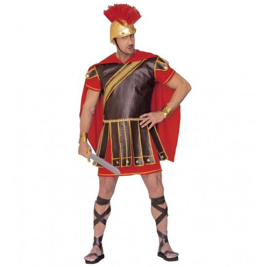 Carnavalskostuum Gladiator kostuum rood-bruin heren