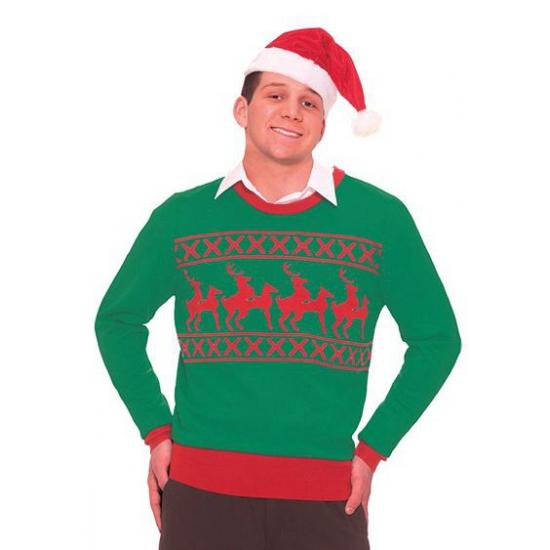 Kersttrui Uitverkoop.Kerst Outfit Foute Rendier Trui Uitverkoop Warenhuis Restanten