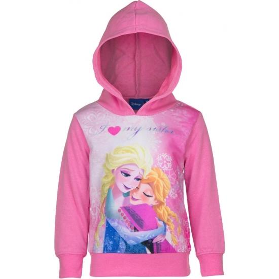 Frozen capuchon sweater roze
