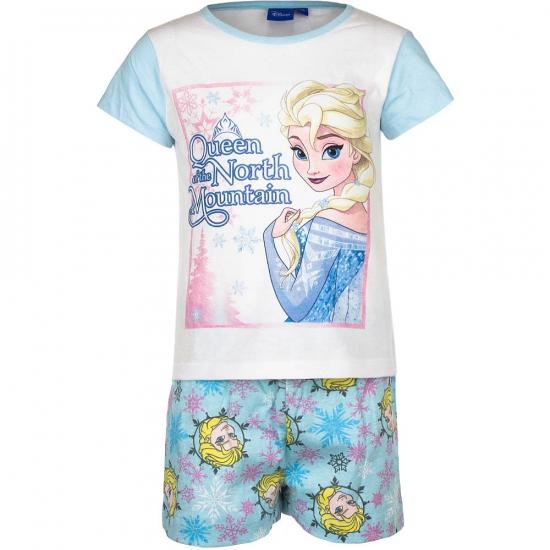 Frozen korte pyjama meisjes blauw/wit