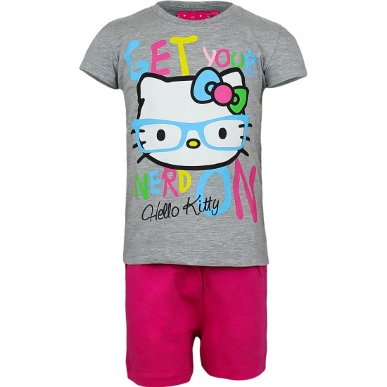 Grijze Hello Kitty pyjama kort
