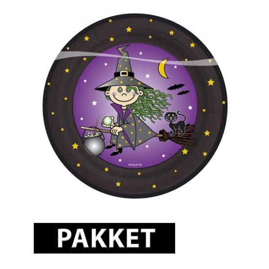 Kinderfeestje Heksen thema feestartikelen pakket