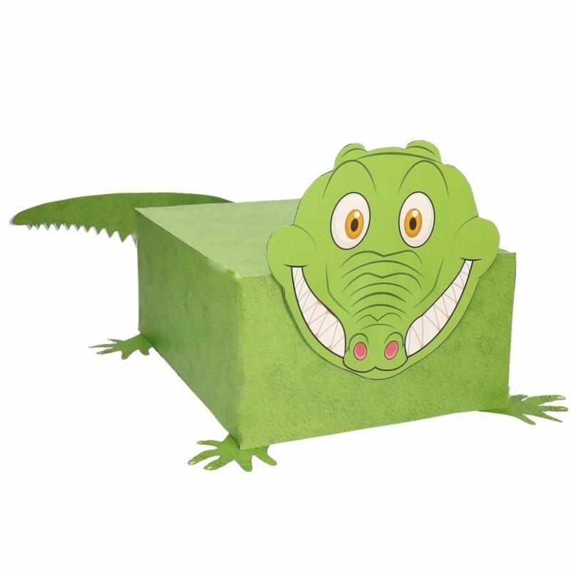 Krokodil surpise bouwen voor kinderen