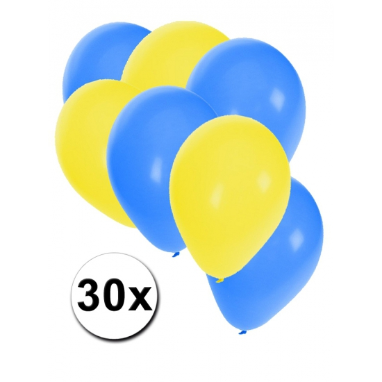 Landen kleuren Ballonnen geel blauw
