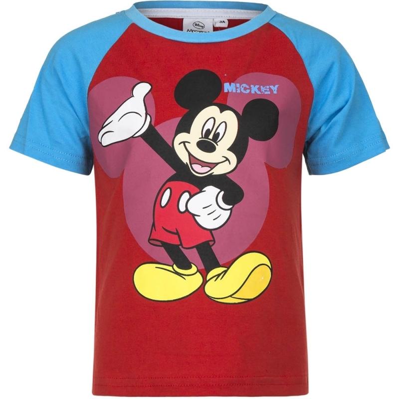 Mickey Mouse t-shirt rood/blauw voor jongens