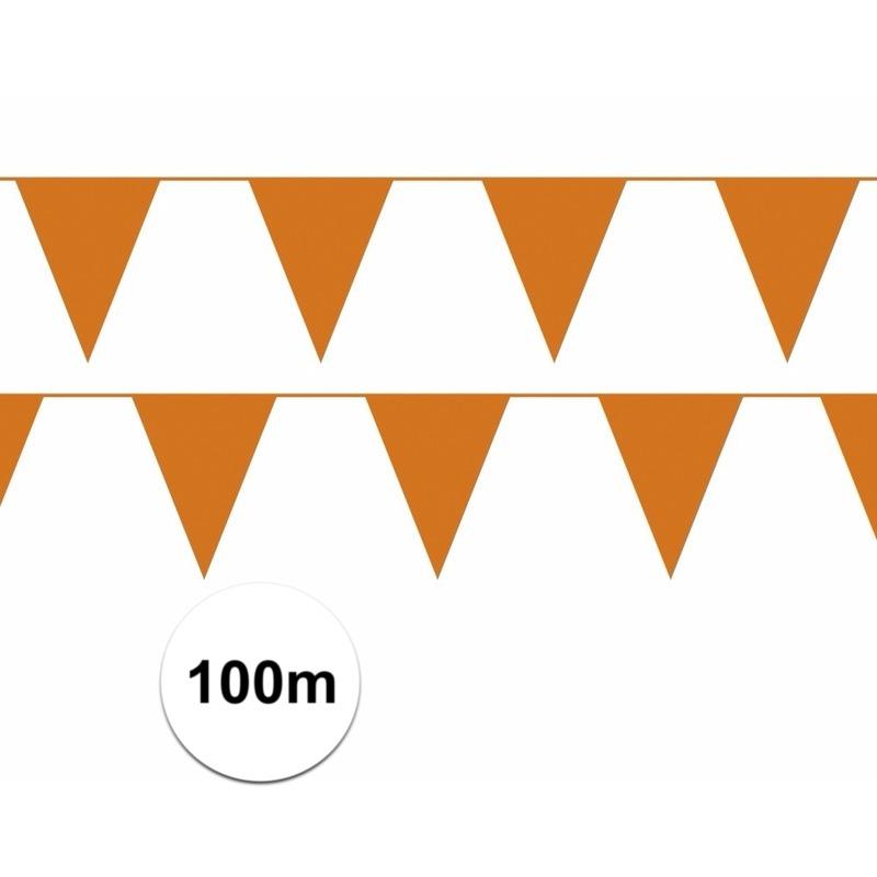 Oranje artikelen 100 meter oranje vlaggenlijn