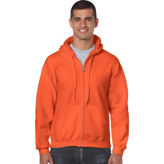 Oranje kleding vest met capuchon