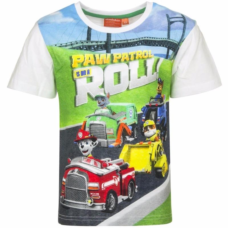 Paw Patrol t-shirt wit voor jongens