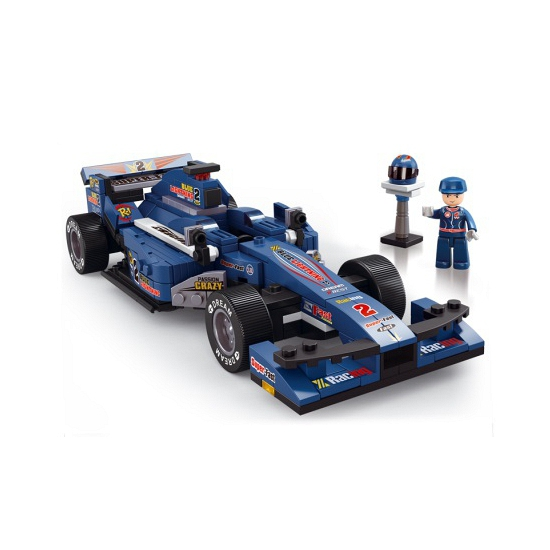 Sluban Racing Team racewagen blauw