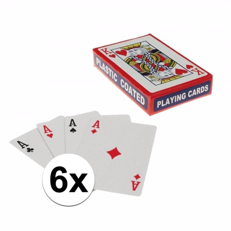 Speelkaarten setjes 6 stuks