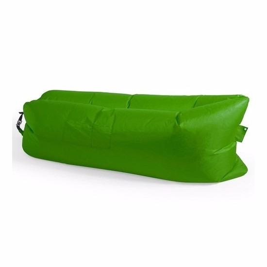 Strand zitzak/luchtbed of lazy bank groen