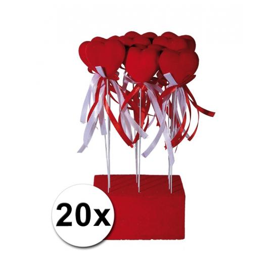 Valentijn Bruiloft decoratie hartjes 20 stuks