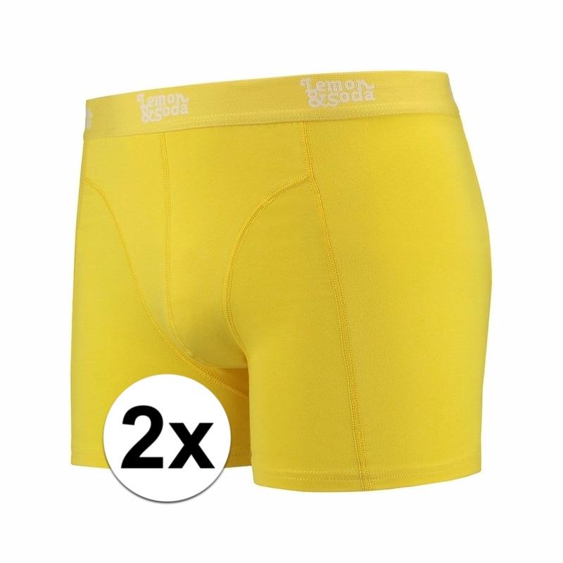 Voordelige gele boxershorts 2-pak Lemon and Soda