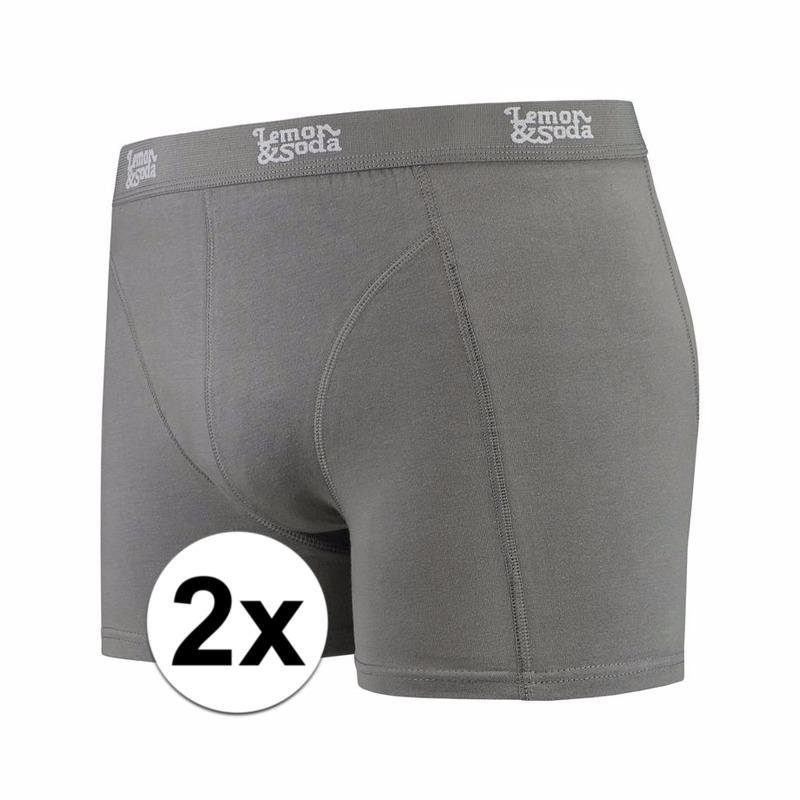 Voordelige grijze boxershorts 2-pak Lemon and Soda