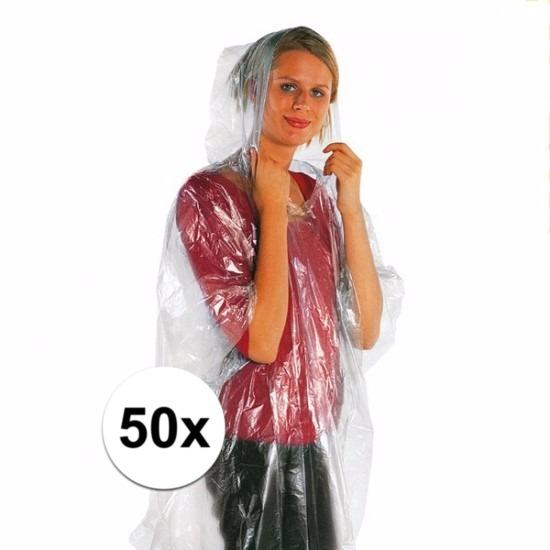 Voordelige noodponcho top prijs 50 stuks
