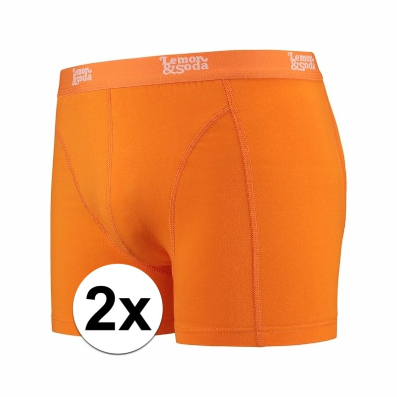 Voordelige oranje boxershorts 2-pak Lemon and Soda