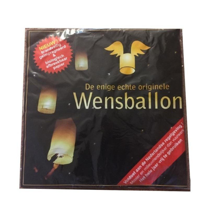 Witte wenslampion XL